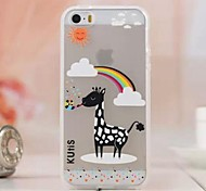 Luminous Lovely Giraffe Cartoon Images TPU Soft Case for iPhone 6 Plus