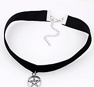 Lucky Star Velvet Fashion Metal Necklace