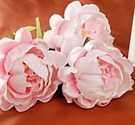 """stile europeo bianco rosa vero tocco peonia con gemma 3 parti / lotto 18.9 """"staminali per la decorazione domestica"""