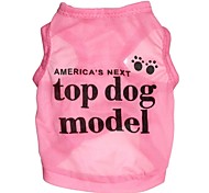 Dog / Cat Shirt / T-Shirt Pink Spring/Fall Letter & Number