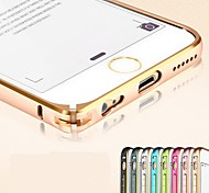 Twin Color Metal Aluminum Bumper Frame Case with Hippocampal Buckle for iPhone 6 (Assorted Colors)