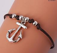 Eruner®Fashion Anchor Charms Handmade Leather Bracelets