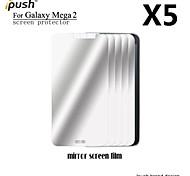 alta transparencia espejo Protector de pantalla para la galaxia de Samsung de mega 2 (5 piezas)