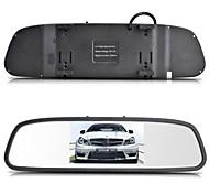 "12V 4 Parking Sensors 4.3"" TFT LCD Display Camera Video Car Rearview Mirror Reverse Radar System"