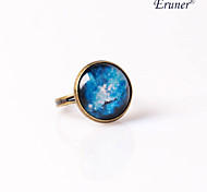 Eruner®Handmade Galaxy Ring Glass Dome Cabochon Nebula Space Ring