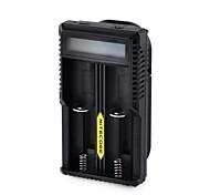 """NiteCore UM20 1.6 """"lcd leichte Smart USB-Dual-Lithium-Ionen-Batterien-Ladegerät (schwarz)"""