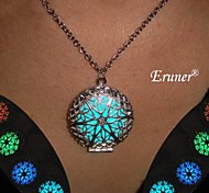 Eruner® Luminous Glow In The Dark Pendant Necklace Round Hollow Glowing Jewelry 2015 Product