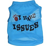 Cat / Dog Shirt / T-Shirt Blue Dog Clothes Spring/Fall Letter & Number