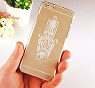 Hand Pattern Transparent Back Case for iPhone 6