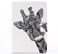 Giraffenmuster PU-Leder Ganzkörper-Fall mit Ständer für iPad Mini 1/2/3