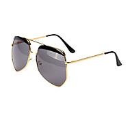 Mirrored Aviator Plastic Retro Sunglasses