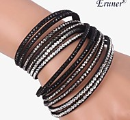 Eruner®Fashion Women Lady Multi-layer Wrist Cuff Top Street Bracelet Bangle(White)