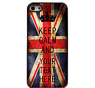 Personalized Case UK Flag Keep Calm Design Metal Case for iPhone 5/5S
