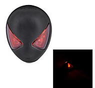 Portable Waterproof USB Charging 2-LED 3-Mode Spider-Man Bicycle Taillights Safety Warning Light (black)