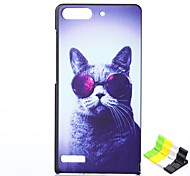 Cat Pattern PU Leather Full Body Case and Phone Holder for Huawei G6