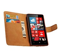 Genuine Leather Wallet Style Case for Nokia Lumia 820 (Assorted Colors)