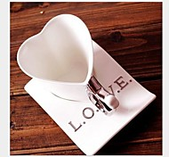 """The Delicate Ceramic Cup Coffee Love Shaped Cup With Cup Coasters Ceramic 5.5""""*3.9""""3.2"""""""
