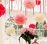 10 inch Tissue Paper Pom Poms Wedding Party Decor Craft Paper Flowers Wedding(Set of 4)