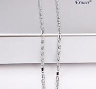 eruner®unisex plata 2 mm collar de cadena no.21