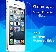 2.5d de haute qualité bord rond 0,33 mm antidéflagrants trempé film protecteur d'écran en verre pour iPhone 4 / 4S