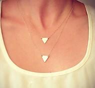 european Dreieck mehrschichtige Halsketten