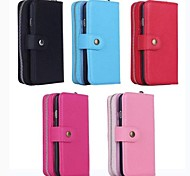 Multipurpose Zip Wallet PU Leather Cover with Stand and Card Slot for iPhone 6 (Assorted Colors)