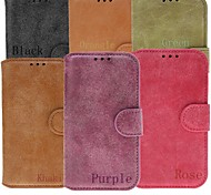 Genuine Leather Full Body Cases with Stand and Slot Card for Samsung Galaxy Note4 N9100 (Assorted Colors)