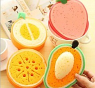 Fruit Section Dish Cloth,Sponge 14.5×12×0.2 CM(5.8×4.8×0.2 INCH) Random Type