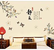 Peach Blossom mur du vent chinois autocollants