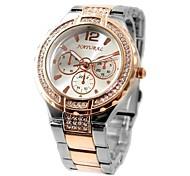 Woman's Ladies Round  Gold Watchband Water Resistant Quartz Bracelet Watch FW836E (Assorted Colors)