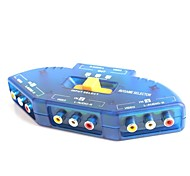3-in-1-out av audio-video-signaal switcher voor DVD / VCD / tv spel
