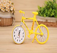 Fashion Home Office Decor Bicycle Model Alarm Clock Office Desk Alarm Clock Creative Gifts Random Color