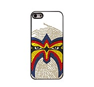 The Face Pattern Aluminum Hard Case for iPhone 5/5S