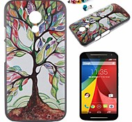 Happy Tree Pattern PC Back Cover Case With Dustproof plug for Motorola G2
