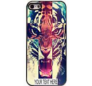 индивидуальный случай тигр случай узор металл для iPhone 5/5 секунд