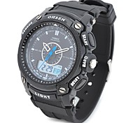 OHSEN AD1209-B Men's Sport Analog + Digital Quartz Wrist Watch (Black)