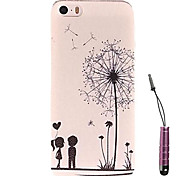Dandelion Child Under  Pattern Hard Case & Touch Pen for iPhone 4/4S