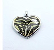 SPHERE Stainless Steel Stripe Heart-shaped Necklaces