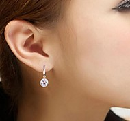 argento grande earrings8mm diamante nudo