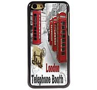 Telephone Booth Design Aluminum Hard Case for iPhone 5C