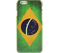 Brazilian Flag Design Hard Case for iPhone 6