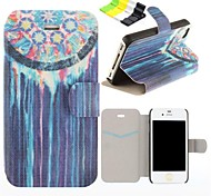 Running Water Pattern PU Leather Full Body Case Have A Perfume and Phone Holder for iPhone 4/4S
