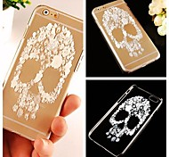 Skull Pattern Transparent Back Case for iPhone 6