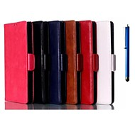 6 Inch Two Folding High Quality Pattern PU Wallet Leather Case with Pen for Sony Xperia T2 Ultra (Assorted Colors)