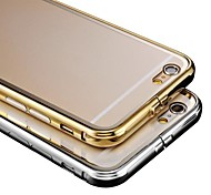 Luxury Plated Metal Frame Adds Transparent PC Cover Phone Shell for  Phone 6 Plus (Assorted Color)