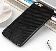 High Grade Carbon Fiber Stickers Side PU Back Cover for iPhone 6(Assorted Colors)