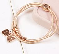 Fashion Bow Tie Plastic Charm Bracelet(1pc)(more colors)