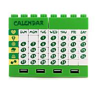 Creative Extension Socket USB HUB with Blocks and Calendar