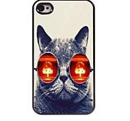 Cat Design Aluminum Hard Case for iPhone 4/4S