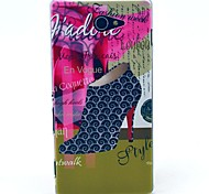 Luxury Products and High-heeled Shoe Pattern Clearly PC Hard Case for Sony Xperia M2 S50h